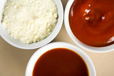 Sauces in Bowls